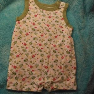 Faded Glory 3/6M one piece summer suit lady bug